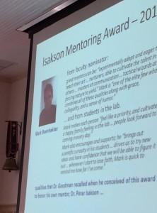 Isakson Award 2015 Beenhakker