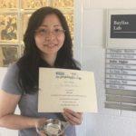 Yu-Hsin (Eva) Chiu receives First Oral Award