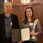 Kudos to Katelyn Ahern:  Recipient of the 2018 L. Roberts and J. Marrow Award!